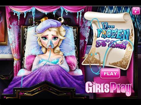 Disney Frozen Elsa: Elsa Frozen Flu Doctor- Fun Online ... Kids Games For Girls Disney Free Online