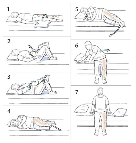 how to get out of bed step by step using log roll to get out of bed hip care