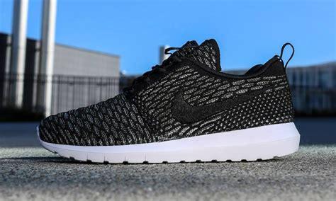 Nike Roshe Run Flyknit Fullblack nike roshe run flyknit nm quot black sequoia quot highsnobiety
