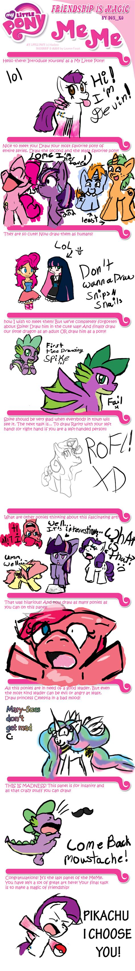Mlp Fim Meme - mlp fim meme by lolly pop girl732 on deviantart