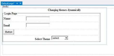 Changing Themes Dynamically In Asp Net | how to change themes dynamically in asp net