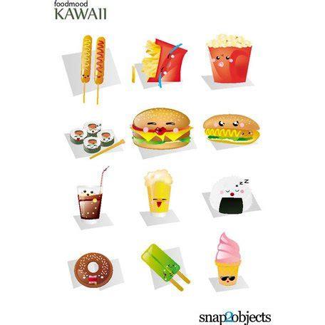kawaii fast food vectors.eps, vector file clipart.me