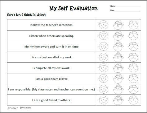 Student Self Evaluation Templates by Student Self Evaluation For Parent Conferences