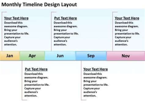 timeline diagram template powerpoint monthly timeline template search results