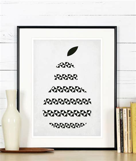 affiche r 233 tro de fruits de cuisine poire design