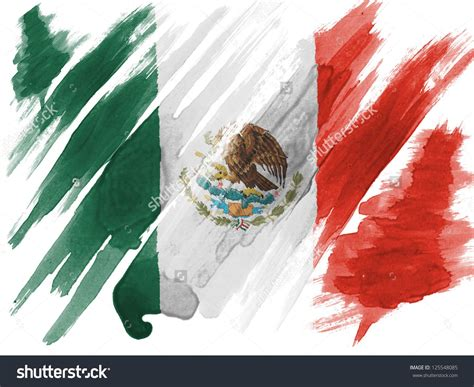 mexico flag colors mexico mexican flag painted with watercolor on paper