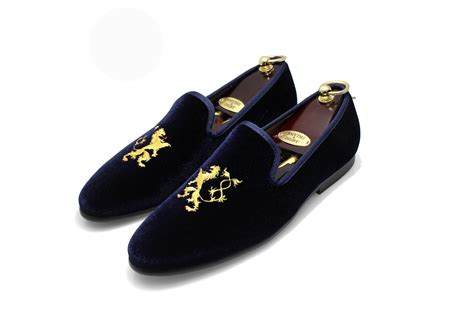 velvet loafer navy blue s albert slipper leather velvet loafer