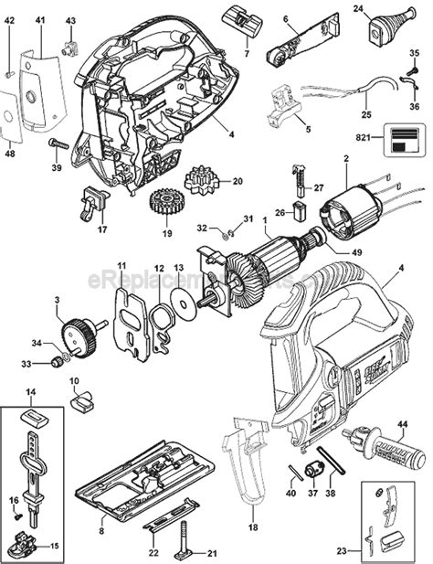 Black and Decker FS6000JSL Parts List and Diagram - Type 1