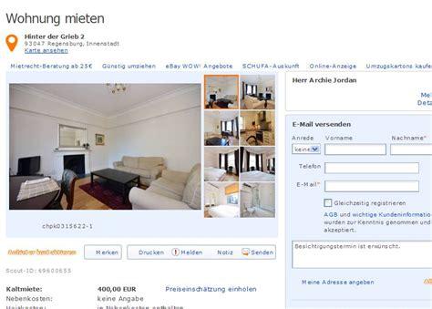 regensburg wohnung mieten wohnungsbetrug 4 mai 2013