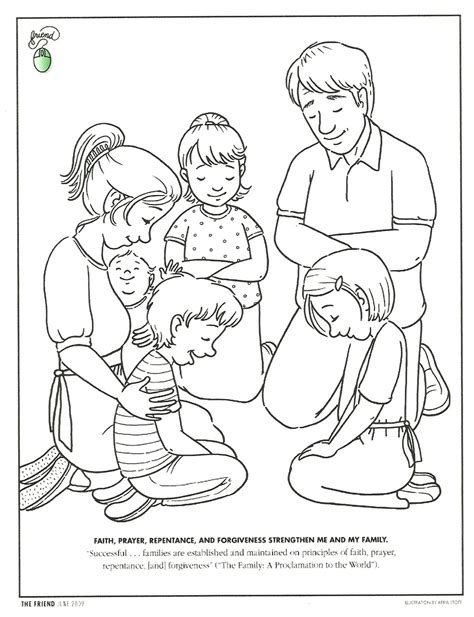 coloring page prayer happy clean living primary 3 lesson 41