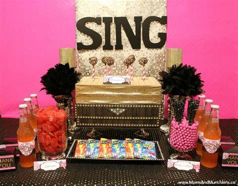 Karaoke Themed Birthday Party | karaoke party ideas and printables moms munchkins