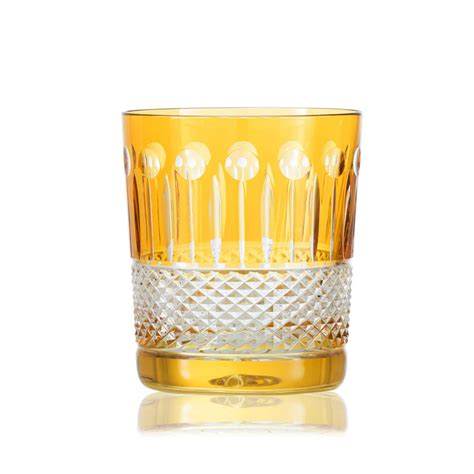 fine crystal set of two rainbow double old fashioned by gurasu fine