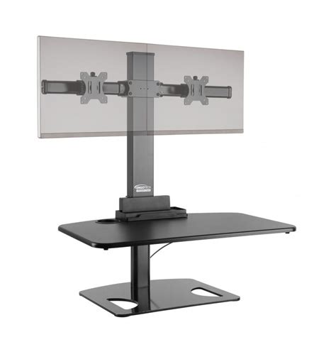 dual monitor stand up desk best dual monitor stand up desk converts desk into a stand