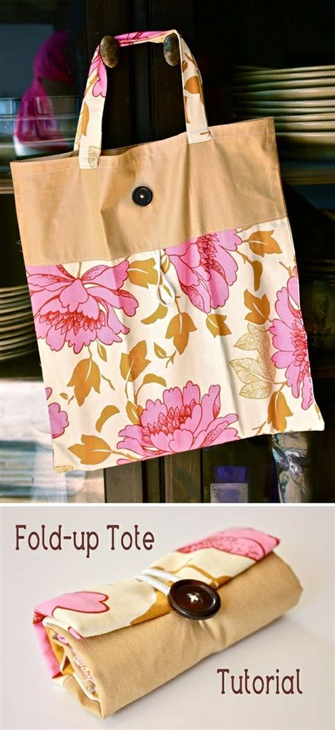 Pattern For Fold Up Tote Bag | tote bag design fold up tote bag pattern