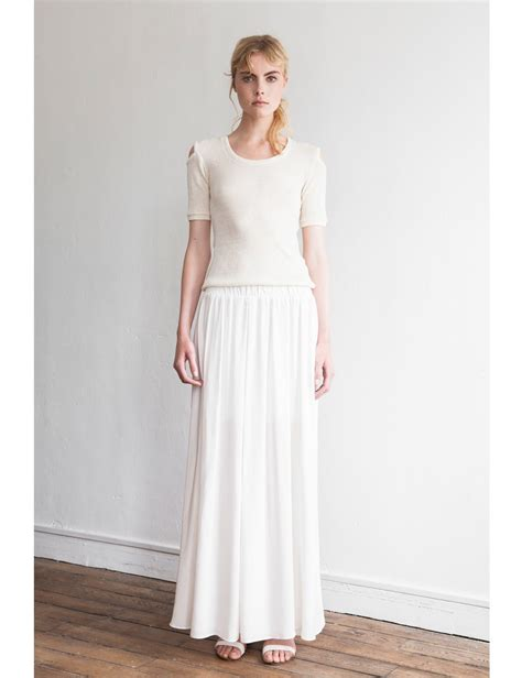 White Maxi etienne deroeux white node maxi skirt in white lyst