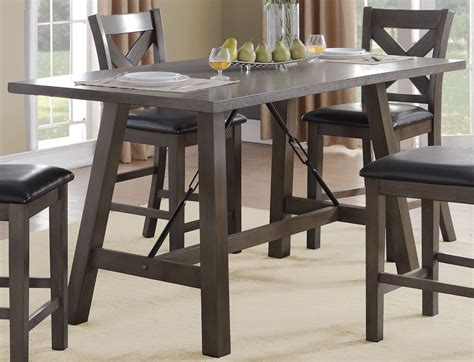 black counter height table seaford black counter height dining table from homelegance