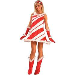 adult miss candy cane woman costume 29 99 the costume