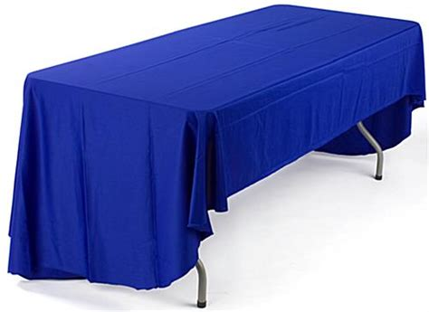 8 logo table covers 3 sided throws