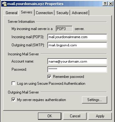 configure xp mail server configuring outlook express 5 and outlook express xp to