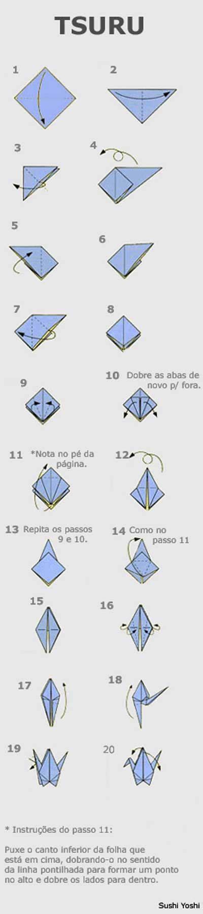 origami tsuru origami de tsuru pinteres