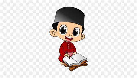 gambar kartun muslim baca buku kumpulan gambar
