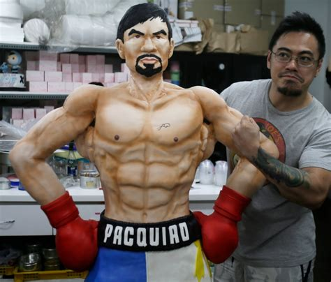 tattoo on pacquiao s chest philippines bakery creates life size pacquiao cake ahead