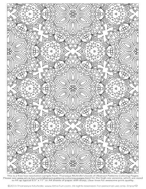 Abstract Patterns Coloring Pages Pdf | free adult coloring pages detailed printable coloring