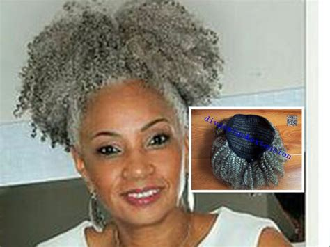 where to buy grey kinky twist hair 100 real hair gray puff afro ponytail hair extension clip