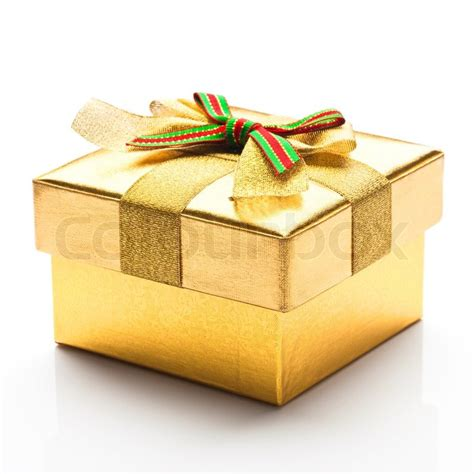 beautiful gifts beautiful gift box with a white background stock photo