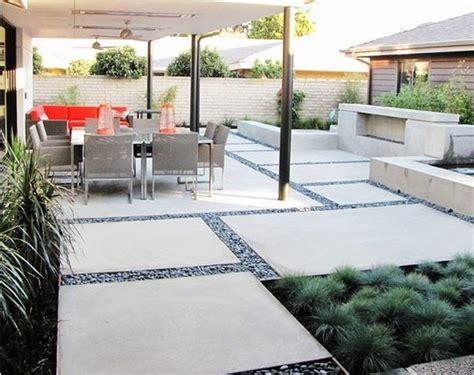 modern landscaping ideas for backyard modern concrete patio designs images about desain patio