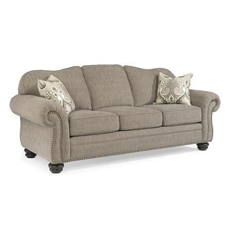 flexsteel bexley traditional sofa with nail trim