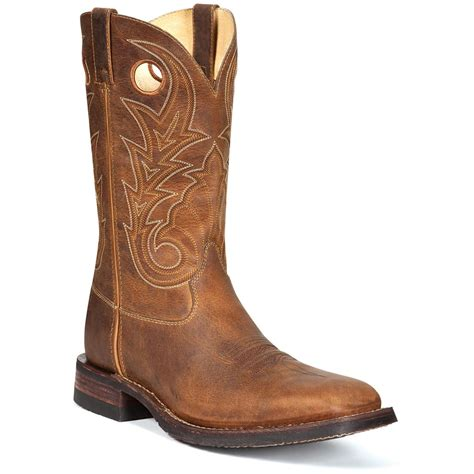mens square toe cowboy boots s rocky 174 12 quot handhewn square toe western work boots