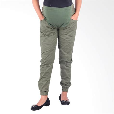 Celana Menaikan Bokongcocok Ibu Habis Melahirkan jual hmill c379 celana jogger katun hijau harga kualitas terjamin blibli