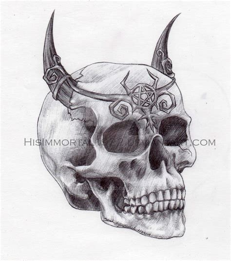 demon skull by hisimmortal1922 on deviantart