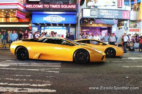 Lamborghini Manhattan Lamborghini Murcielago Spotted In Manhattan New York On