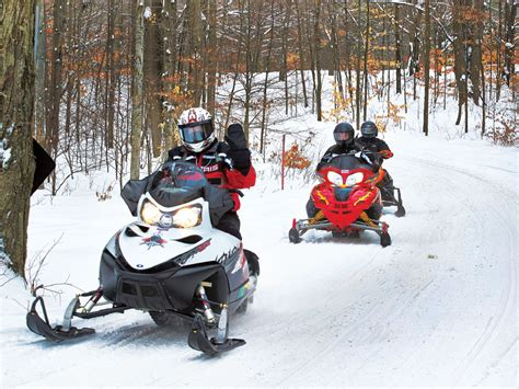 cadillac snowmobile trail report tours archives cadillac michigan travel and tourism