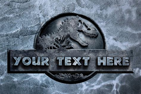 Your Name Or Text put your text or your name on jurassic world logo