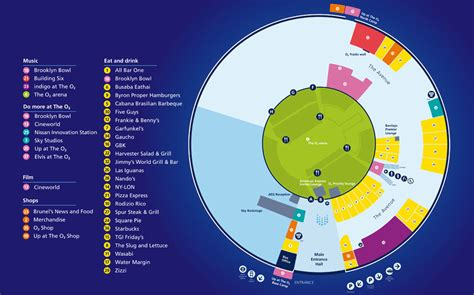 02 Arena Floor Plan maps getting to the o2 the o2