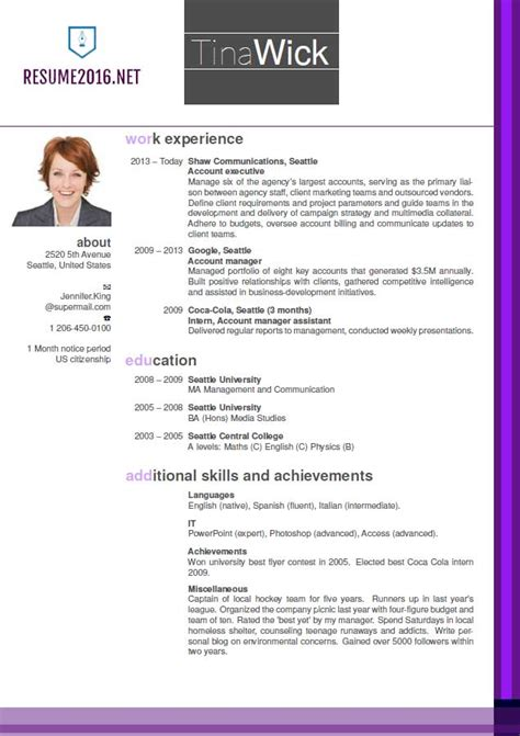 picture resume template updated resume format 2016 updated structure