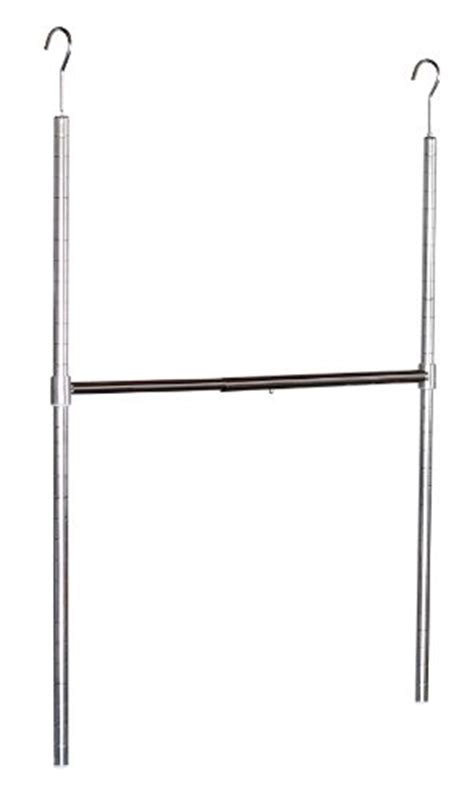 Adjustable Hanging Closet Rod by Decobros Adjustable Hanging Closet Rod Chrome