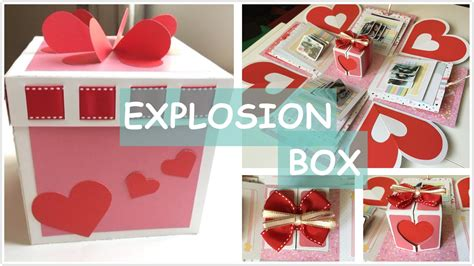 Handmade Birthday Gifts - diy explosion box handmade birthday gift tutorial
