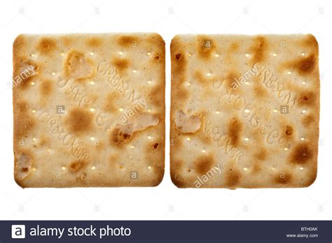 two jacobs cream cracker biscuits stock photo royalty