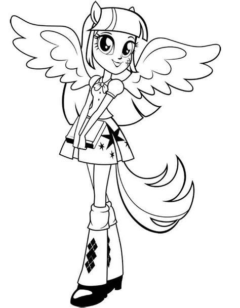 30 Equestria Girls Coloring Pages Coloringstar Equestria Twilight Sparkle Coloring Pages