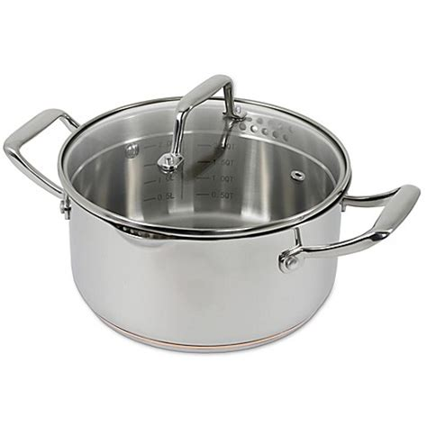 bed bath and beyond robinson robinson 174 oneida 3 qt stainless steel copper base soup
