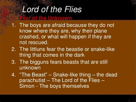 theme of darkness in lord of the flies lotf test review