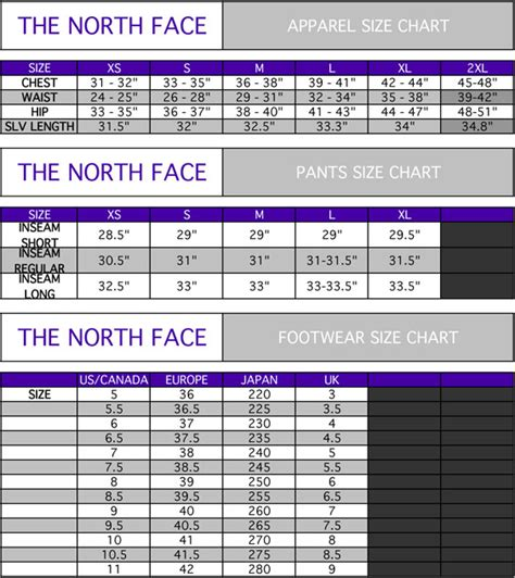 shoe size chart north face womens mens the north face active wear black jacket hoodie