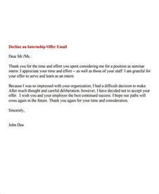 Rejection Letter Sle For Internship 6 Internship Rejection Letters Free Sle Exle Format Free Premium Templates