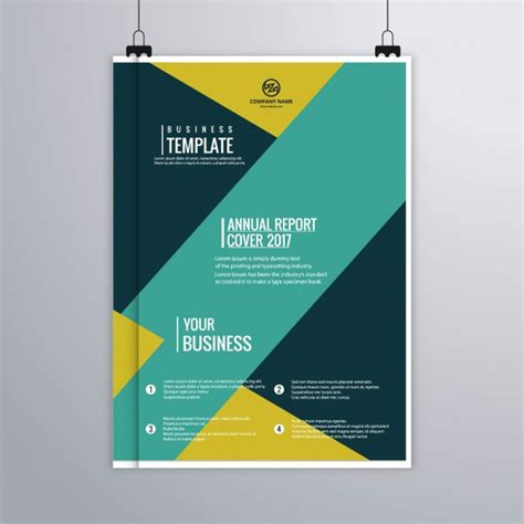 yellow business brochure template with geometric shapes abstract brochure with yellow and turquoise geometric