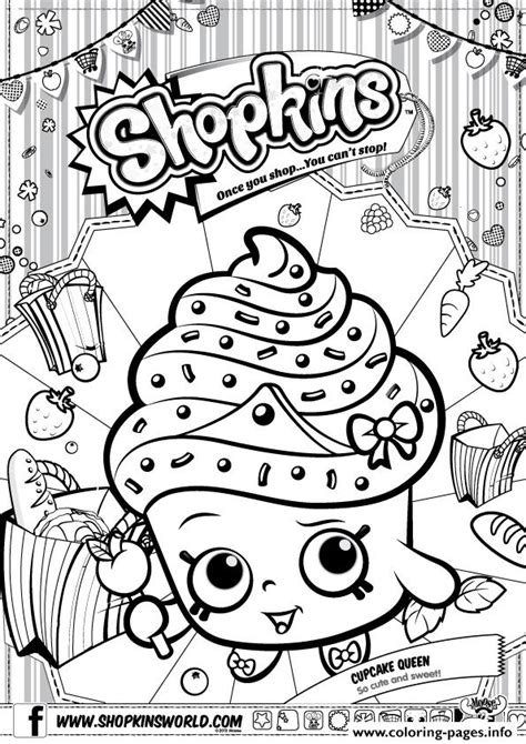 shopkins coloring pages cupcake queen shopkins cupcake queen coloring pages printable