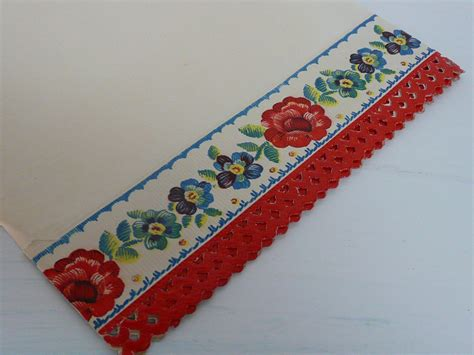 Paper Shelf Liner by Vintage Shelf Liner Paper Section With By Newlifevintagervs